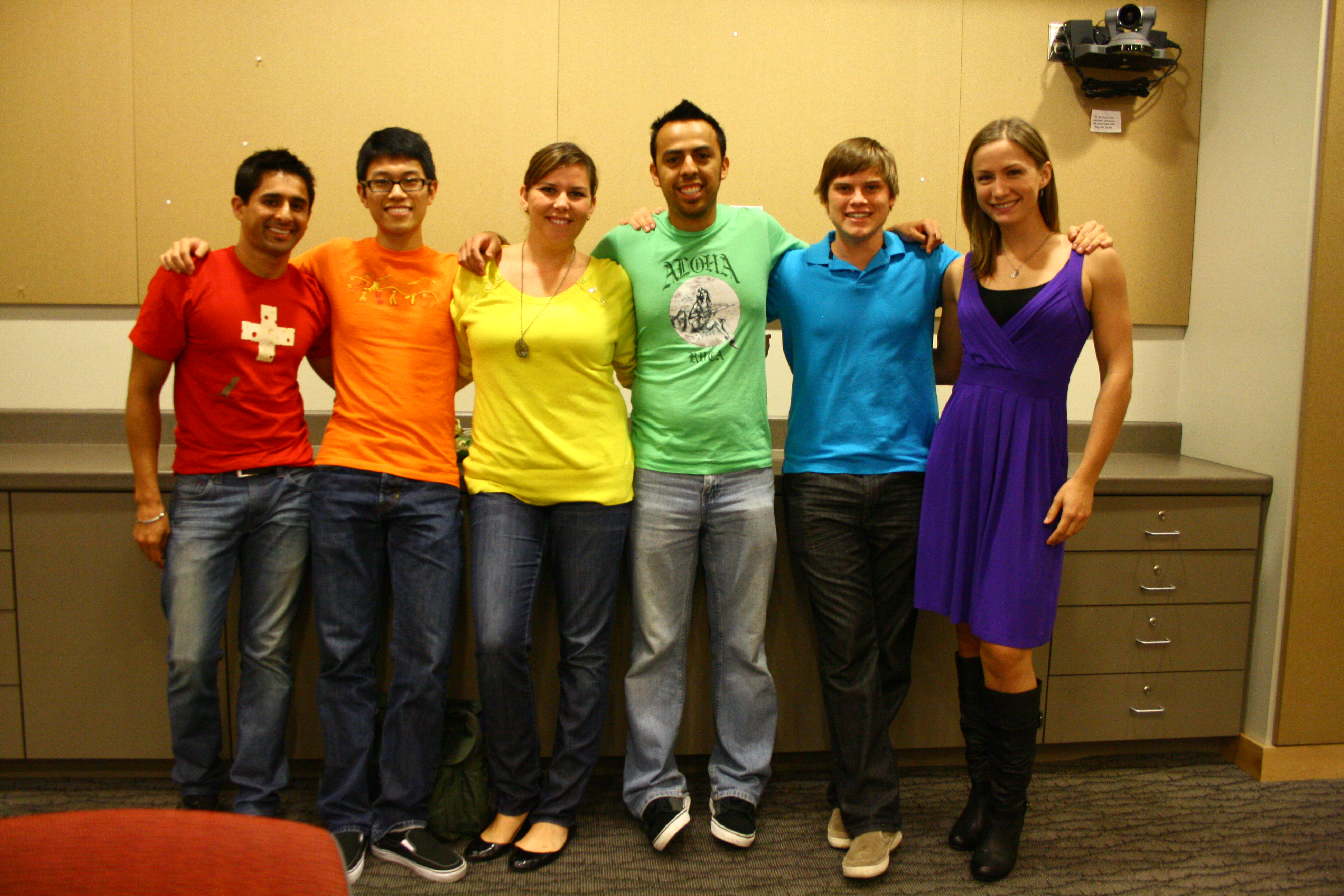 Scholar Sid Puri (left) with students from the LGBTIQQ lecture series